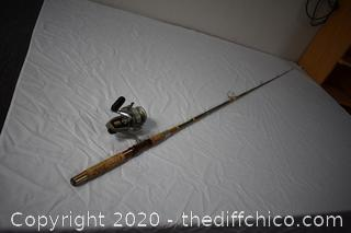 85 1/2in long Daiwa Fishing Pole with Ryobi Reel