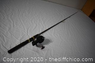 75 1/2in long Daiwa Graphic Pole and D.A.M. Quick 330 Reel