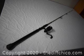 87in long Fishing Pole and Shimano Reel