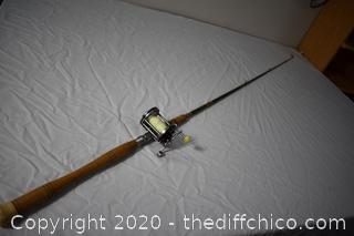 85in long Custom Craft Fishing Pole and Penn Reel 140