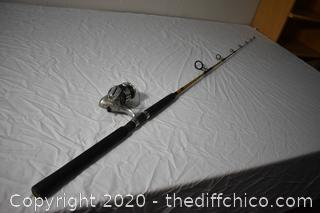 83 1/2in long Ugly Stik Fishing Pole and Avenger Reel