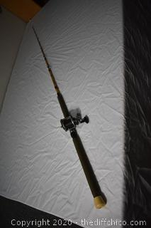 85in long Master Custom Striker Fishing Pole and Pflueger Bond Reel