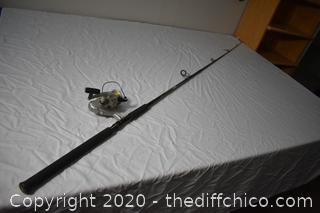 96in long Garcia Fishing Pole and Shakespeare Reel