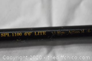 78in long Shakespeare Ugly Stik Fishing Pole and Daiwa Reel