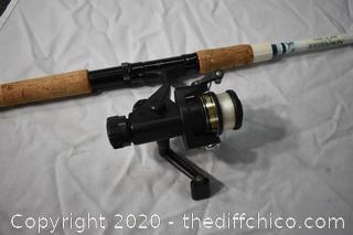 85 1/2in long Garcia Fishing Pole