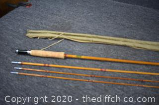 Shakespeare Bamboo Fly Rod w/Cloth Holder