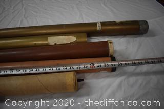 6 Empty Fishing Pole Cases