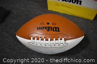Wilson Signed Football by Joe Montana