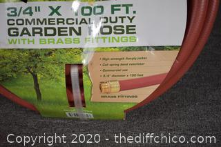 NIB Garden Hose - 3.4in x 100ft