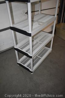 Plastic Shelf Unit