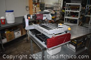 Working Chicago Electric 10in Tile Saw