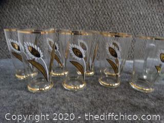 Gold Trimmed Glasses