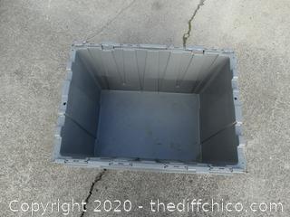 Gray Flip Top Tub