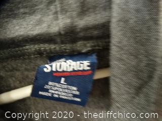 Gray Cold Storage Zip-UP Sweatshirts L