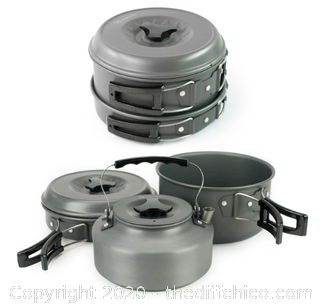 Winterial Camping Cookware and Pot Set (J5)