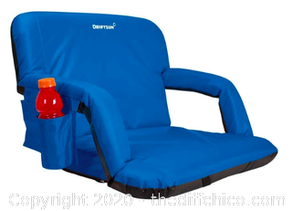 Driftsun Folding Stadium Seat - Deluxe XL Blue (J18)
