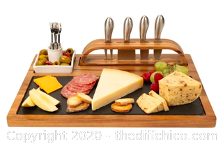 Zelancio Slate Cheese Board, 12 Piece Charcuterie Set (J23)