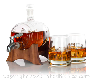 Atterstone Whiskey Barrel Decanter Set (J24)