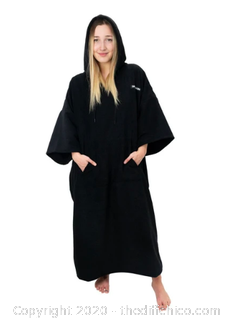Driftsun Surf Poncho, Privacy Changing Robe - Black (J9)