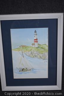 Framed Signed Water Color