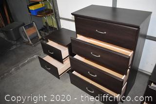 4 Drawer Dresser plus 2 Night Stands
