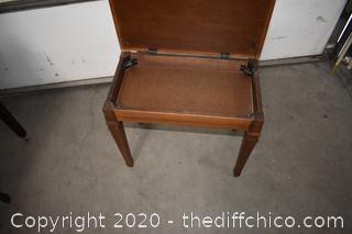 Piano Bench w/storage