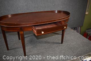Mahogany Coffee Table w/drawer