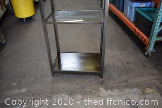 Metal Display w/glass shelves