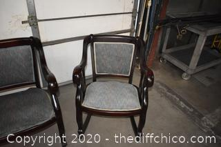 3 Piece Mahogany Vintage Sofa Set