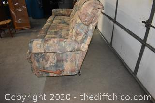 Lazy Boy Recliner Couch - 82in long