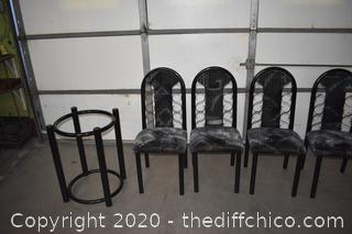 4 Chairs with Table Base