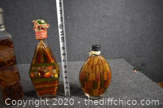 3 Decorative Vegetable Bottles