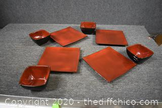 8 Pieces of Threshold Stoneware Elemental Poppy