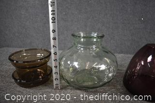 4 Pieces of Decorative Glass