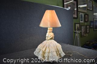 Working Vintage Doll Lamp w/shade