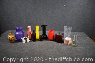 Mixed Lot of Vases and More