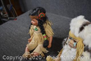 2 Indian Dolls