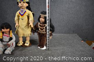 3 Indian Dolls