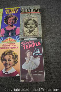 Lot of VHS Shirley Temple Tapes