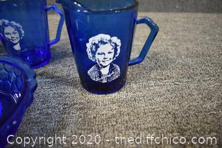 Shirley Temple Cobalt Blue Collectibles
