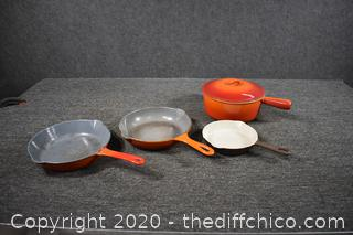 Le Creuset  and Belgium Cast Iron Cookware