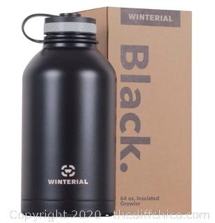 Winterial 64oz Stainless Steel Growler - Black (J9)