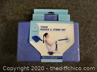 New Yoga Block & Strap Set