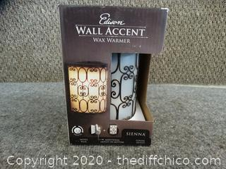 Edison Wall Accent Wax  Warmer new