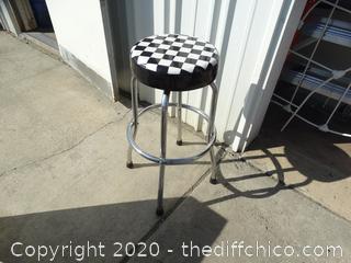 Checkered Bar Stool