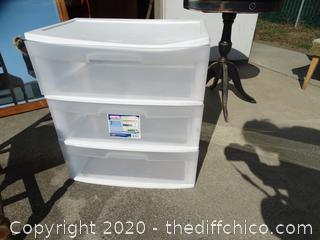 Sterilite 3 Drawer Storage  Container