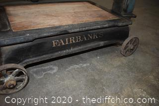 Vintage Working Fairbanks Railroad Scale - goes to 550 pounds