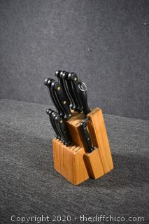 Knife Set w/Block Holder
