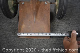 Unique 57 1/2in long Shovel on Wheels
