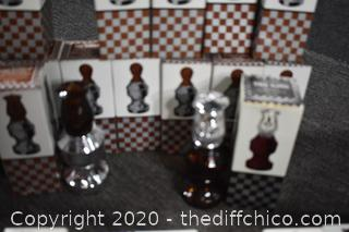 Compete 32 Pieces of Avon Chess Set In Original Boxes